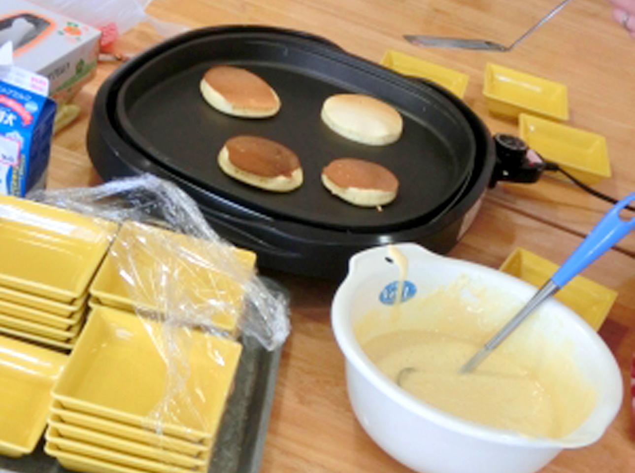 おやつ作り-ホットケーキ
